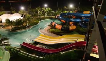 Black Mountain Water Park @ Night - Hua Hin / Cha Am Video