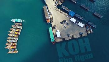 Koh Phangan, Thailand by air - Koh Samui Video