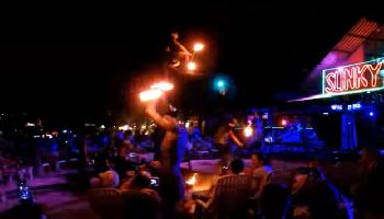 Nightlife in Phi Phi Island - Dalam Beach - Krabi Video