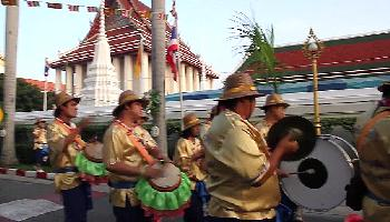 Prozession am Wat Saket - Bangkok Video