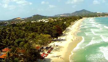 Start Video Chaweng Beach Koh Samui Aerial Baden + Strand