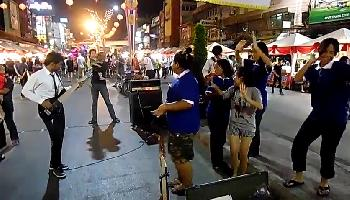 Strassenmusik am Markt - Ayutthaya Video
