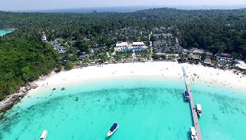 Start Video Koh Racha von oben Baden + Strand