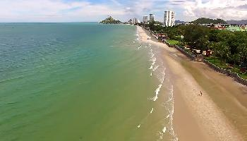 Start Video Hua Hin von oben Baden + Strand