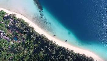 Paradiese Beach Koh Kradan Aerial - Krabi Video