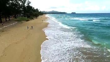 Start Video Der Karon Beach von oben Baden + Strand