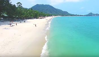 Lamai Beach Aerial Video - Koh Samui Video
