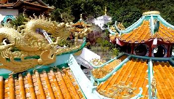 Der chinesische Tempel Goddes of Mercy - Koh Samui Video