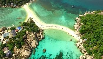 Koh Nang Yuan Aerial Video - Koh Samui Video