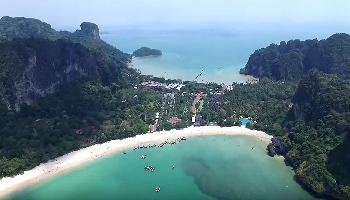 Ein Flug über Railay Beach - Krabi Video